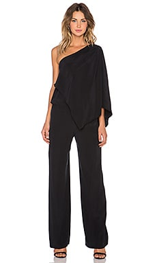 RAMY BROOK Olsen One Shoulder Jumpsuit in Black