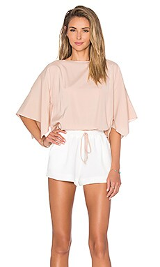 RAMY BROOK Roy Romper in Blush and Soft White
