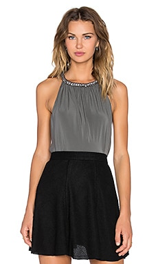 RAMY BROOK Beaded Renee Top in Pewter