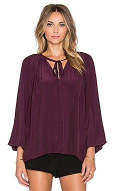 RAMY BROOK Paris Peasant Blouse in Cranberry