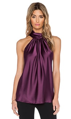 RAMY BROOK Paige Tie Neck Tank in Cranberry