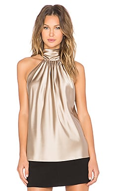 RAMY BROOK Paige Tie Neck Tank in Brushed Gold
