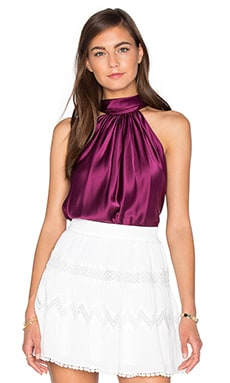 RAMY BROOK Paige Tie Neck Tank in Sangria