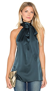 Paige Tie Neck Tank in Spruce