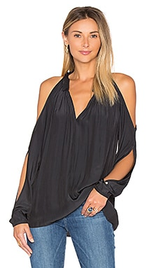 Milan Cold Shoulder Top in Schwarz