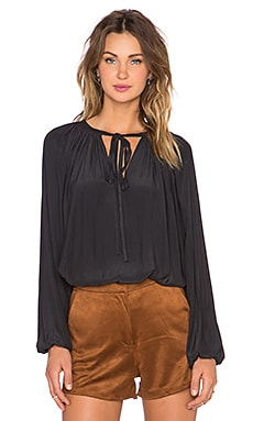 RAMY BROOK Paris Peasant Blouse in Black
