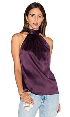 Paige Tie Neck Tank in Merlot