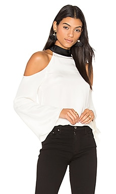 Serena Blouse in White & Black