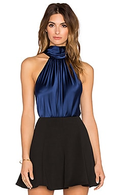 RAMY BROOK Paige Tie Neck Tank in Navy