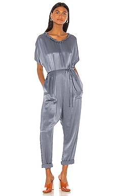 Pebble Satin Jumpsuit Raquel Allegra $174