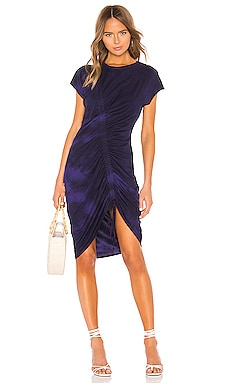 Gathered Tie Midi Dress Raquel Allegra $177