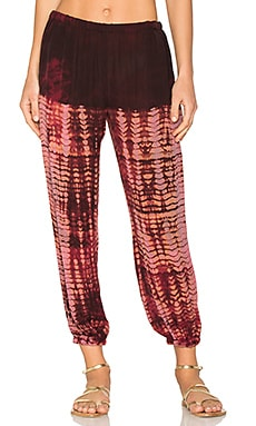 Silk Sweatpant in Oxblood Tie Dye
