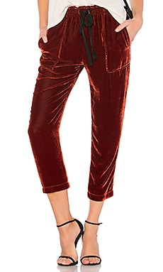 PANTALON EN VELOURS DRAWSTRING
