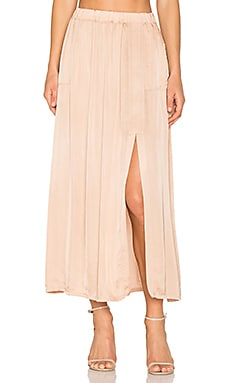 Ribbon Midi Skirt in Copper