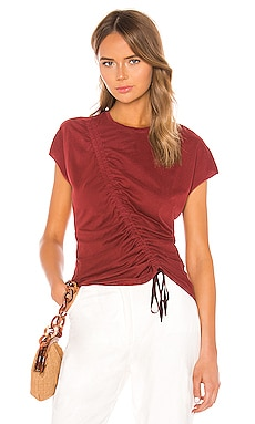 Gathered Tie Tee Raquel Allegra $104