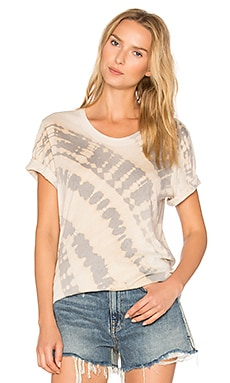 Shred Tee in Fossil Gray Tie Dye