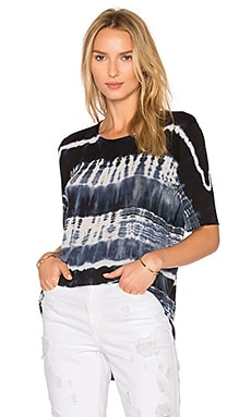 Basic Tee in Navy Tie Dye