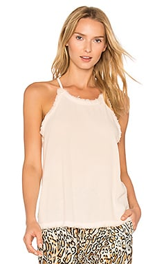 Frayed Racer Cami in Blush