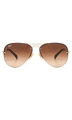 Rimless Aviator en Marron Dégradé