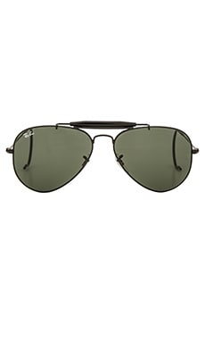 Ray-Ban Outdoorsman in Black & Green Classic