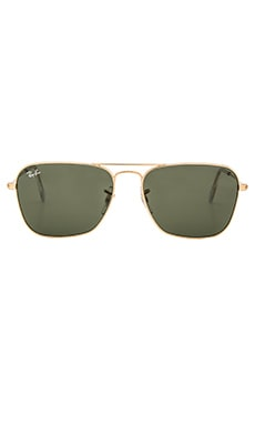 Ray-Ban Caravan in Gold & Green Classic G-15