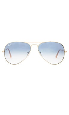 Ray-Ban Large Metal Aviator en Arista/Gradient Light Blue