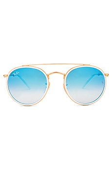 ROUND DOUBLE BRIDGE 선글라스 Ray-Ban $190