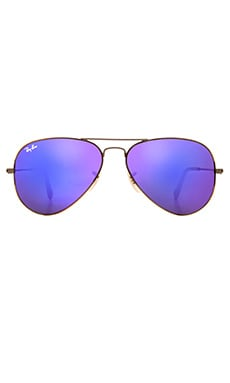 Aviator Flash Lenses en Miroir Violet