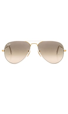 Aviator Full Color in White & Gold & Light Grey Gradient