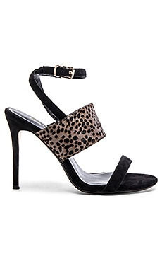 Billie Cow Hair Heel in Grey Spot & Black