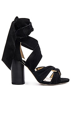 RAYE x For Love & Lemons Myra Heel in Black Suede