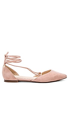 x For Love & Lemons Paloma Flat in Blush Suede