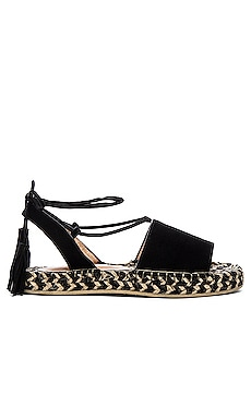 RAYE Devon Sandal in Black & Multi Weave