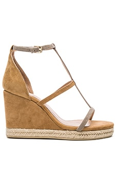 RAYE Dillon Wedge in Olive & Tan