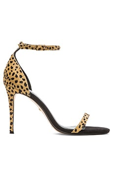 RAYE Blake Calf Hair Heel in Spotted Pony