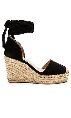Dahlia Espadrille Wedge in Black