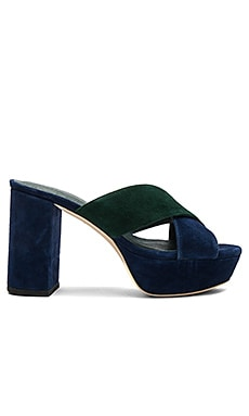 x STONE_COLD_FOX Petra Heel in Evergreen & Navy