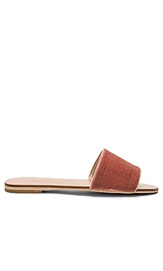 x REVOLVE Sari Slide in Blush Velvet