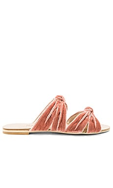 x REVOLVE Naomi Slide in Blush Velvet