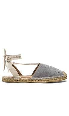 RAYE Dani Espadrille in Smoke & Cream
