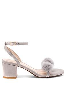 x REVOLVE Amara Mink Fur Sandal