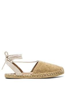 RAYE Dani Espadrille in Tan & Cream