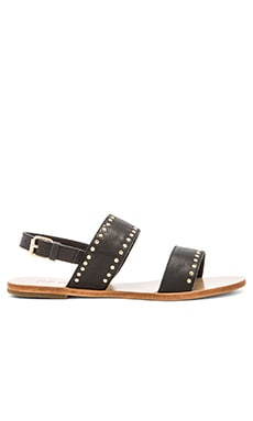RAYE Stella Sandal in Black & Gold