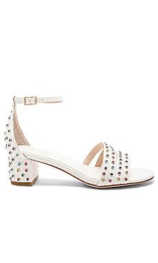 Купить Сандалии на каблуке quartz - RAYE белого цвета