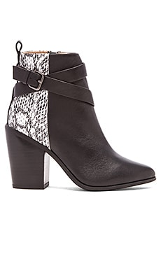RAYE Erin Bootie Skin in Black & Natural Snake