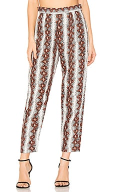 Flat Westside Pant in White & Red