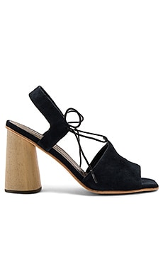 Melrose Heel in Midnight Suede