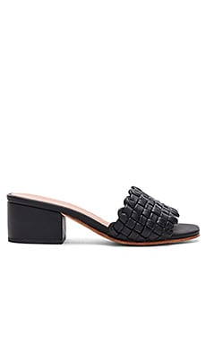 Pentz Mule in Polished Black