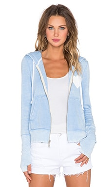Rebel Yell Love Hoodie in Powder Blue
