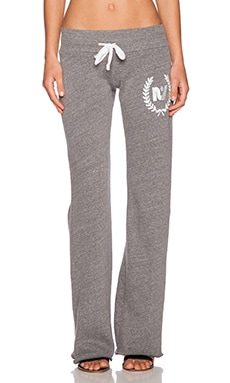Rebel Yell RY Crest Boyfriend Sweatpant in Heather Grey